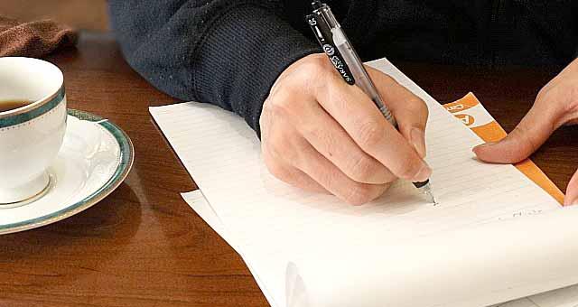 記憶を思い出すために手書きで